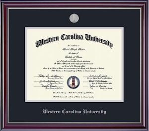 Image For Jefferson Silver Medallion Diploma Frame