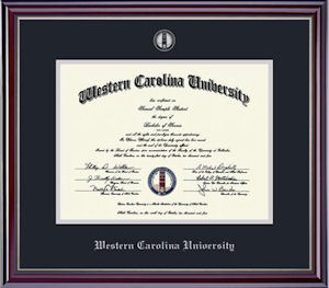 Image For Jefferson Silver Embossed Diploma Frame